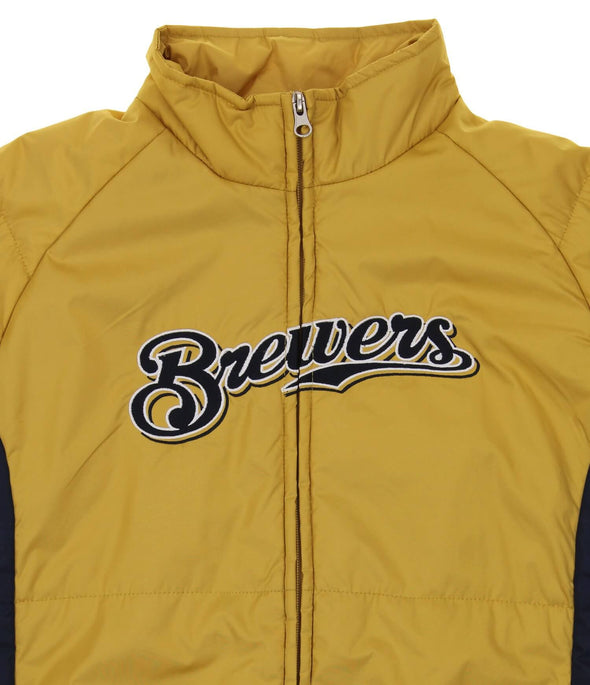 Outerstuff MLB Youth Milwaukee Brewers Double Climate Full Zip Jacket