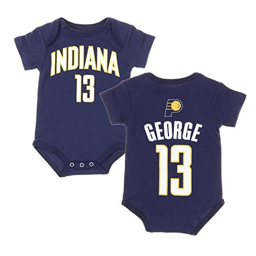 Indiana Pacers NBA Basketball Baby Paul George # 13 Player Onesie - Navy Blue