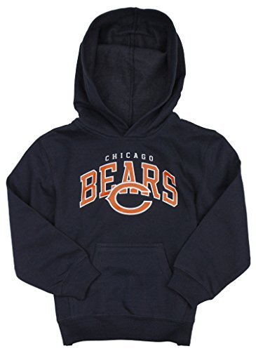 Chicago Bears NFL Football Boys Promo Fleece Hoodie Sweatshirt, Navy Blue