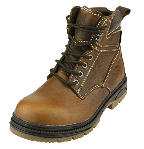 NFL Men's Green Bay Packers Steel Toe Lace up Leather Work Boots - Brown