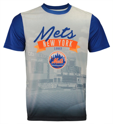 Forever Collectibles MLB Men's New York Mets Outfield Photo Tee