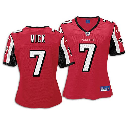 separation shoes 7f00b e6b9c Atlanta Falcons Michael Vick #7 NFL Womens Replica Jersey, Red (Large)  [Misc.] -