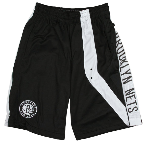 Zipway NBA Youth Brooklyn Nets Chaz Athletic Basketball Shorts, Black