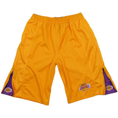 Zipway NBA Basketball Youth Boys Los Angeles Lakers Microfiber Shorts - Yellow