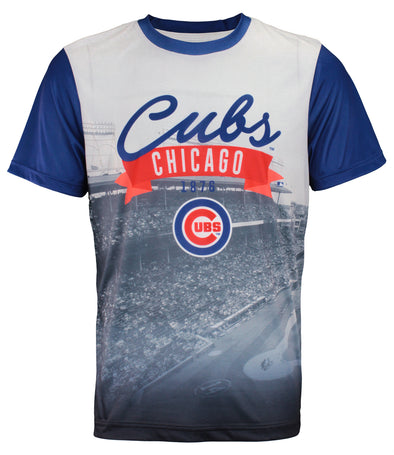 Forever Collectibles MLB Men's Chicago Cubs Outfield Photo Tee