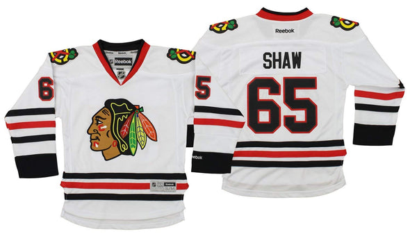 Reebok NHL Youth Chicago Blackhawks Andrew Shaw #65 Player Jersey
