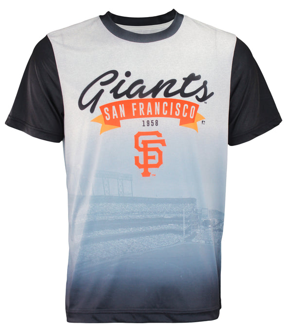 Forever Collectibles MLB Men's San Francisco Giants Outfield Photo Tee