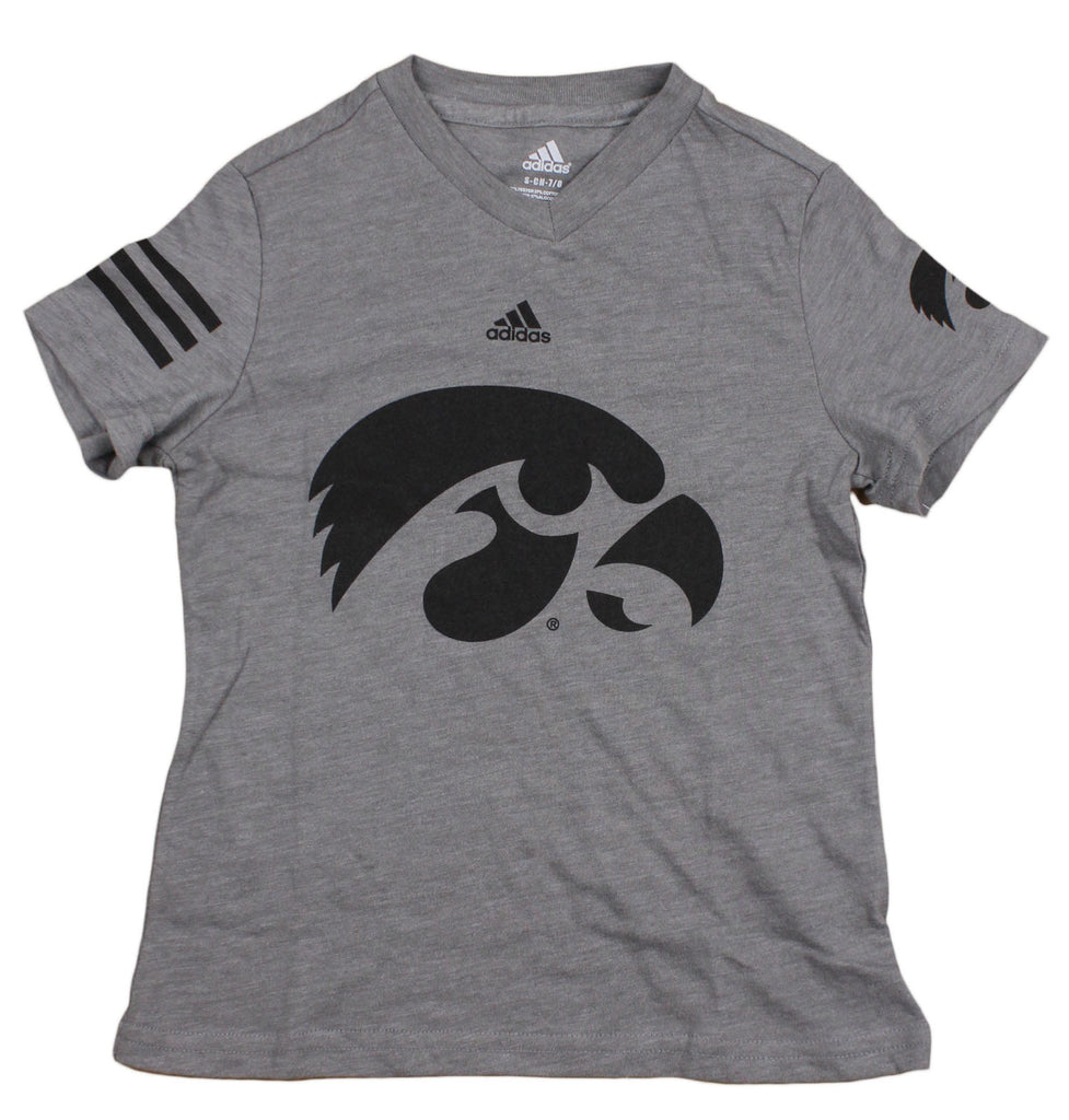 1ba1c7ce9 Adidas NCAA College Youth Girls Iowa Hawkeyes T-Shirt - Gray – Fanletic