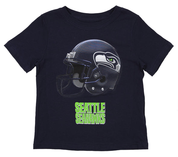 Outerstuff NFL Toddler Seattle Seahawks Rusher Tee, Navy