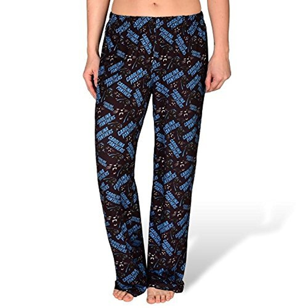 a74cda0f167f64 Forever Collectibles NFL Women's Carolina Panthers Repeat Print Logo Comfy  Pants