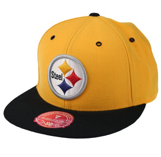 daf130a5 NFL Men's Pittsburgh Steelers Mitchell & Ness Main Logo Fitted Hat, Yellow