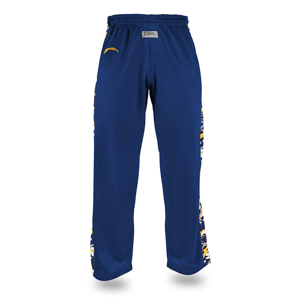 Zubaz Men's NFL Los Angeles Chargers Camo Print Stadium Pants