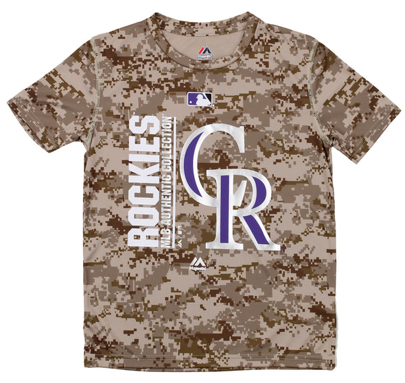 Majestic MLB Youth Colorado Rockies Short Sleeve AC Team Icon Tee