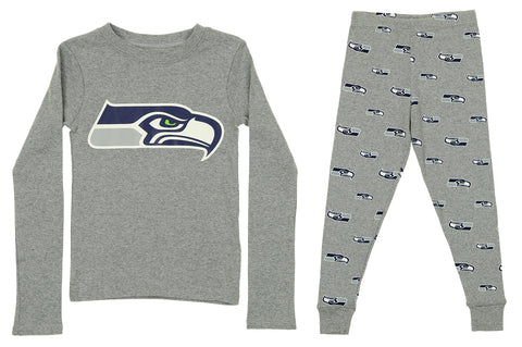 bc238df4b9 OuterStuff NFL Boy s Youth Seattle Seahawks Long Sleeve Tee And Pant Sleep  Set