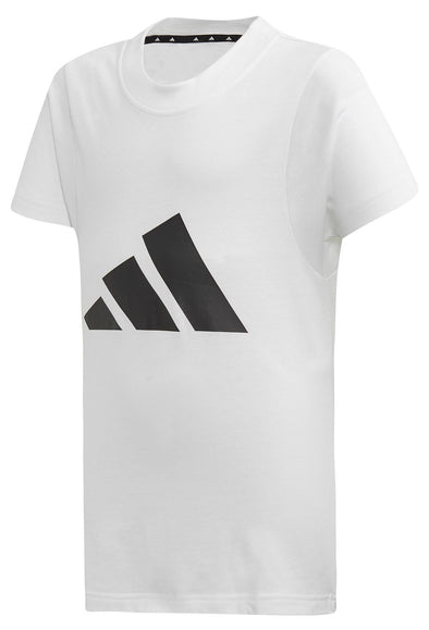 Adida Girls Youth (7-14) ID Logo Tee, White/Black