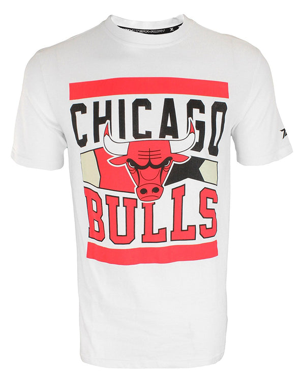 Zipway NBA Men's Chicago Bulls Big & Bold T-Shirt, White
