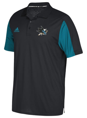 Adidas NHL Men's San Jose Sharks 2017 Authentic Game Day Polo Shirt