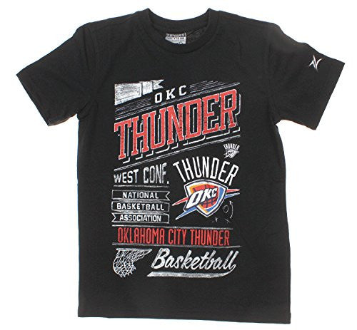 Zipway NBA Youth Oklahoma City Thunder Headline Short Sleeve T-Shirt, Black