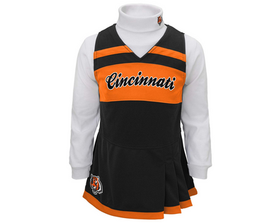 Outerstuff NFL Toddler Girls Cincinnati Bengals Cheer Jumper Dress