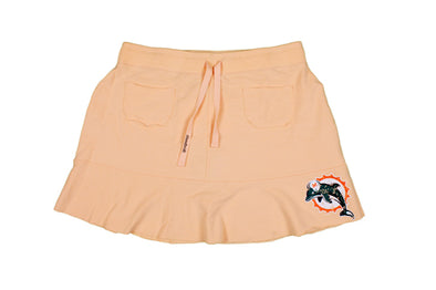 NFL Miami Dolphins Women's Reebok French Terry Flirt Skirt, Peach