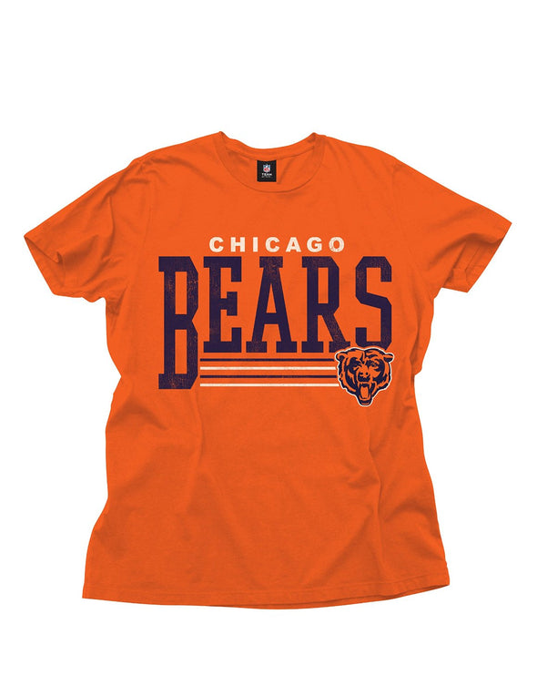 Chicago Bears NFL Football Men's Fundamentals Logo T-Shirt Top Tee, Orange