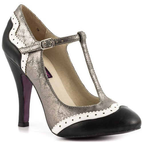 Mojo Moxy Women's Butterfield Spectator Pumps Mary Jane Heels, Black