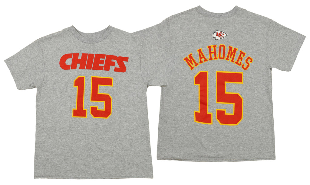 6dcfbb0e0b4 Outerstuff NFL Youth Kansas City Chiefs Patrick Mahomes #15 Mainliner Tee