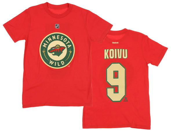 Reebok NHL Youth Minnesota Wild Mikko Koivu #9 Player Tee, Red