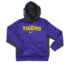 96a5e45753d4 Nike NCAA College Youth LSU Tigers ThermaFit Pullover Sweatshirt Hoodie