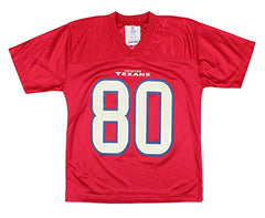 ecf593ee633 ... NFL Football Youth Boys Houston Texans Andre Johnson # 80 Player Jersey  - Red ...