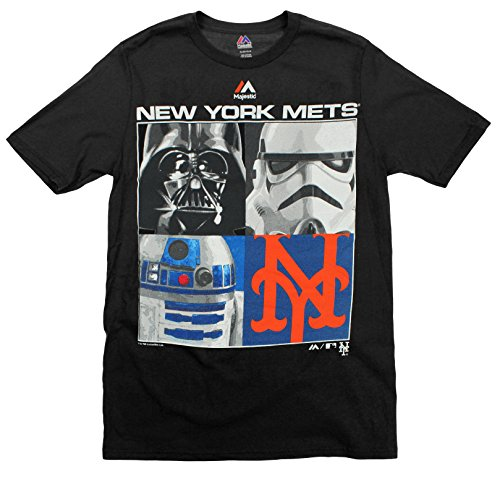MLB Youth New York Mets Star Wars Main Character T-Shirt, Black