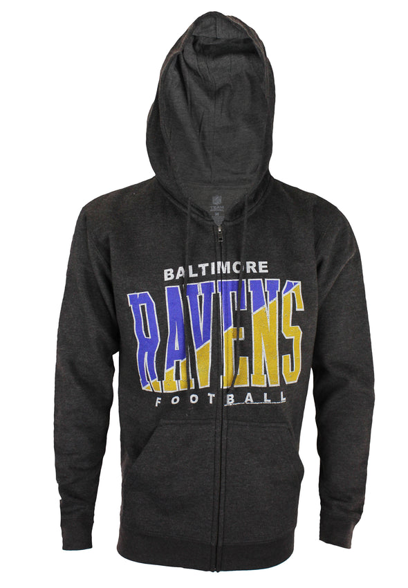 Baltimore Ravens NFL Football Mens Split Formation Fleece Hoodie, Gray