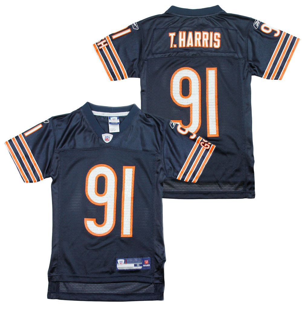 new styles fb976 5f67d Reebok NFL Youth Chicago Bears Tommie Harris # 91 Replica Jersey - Navy
