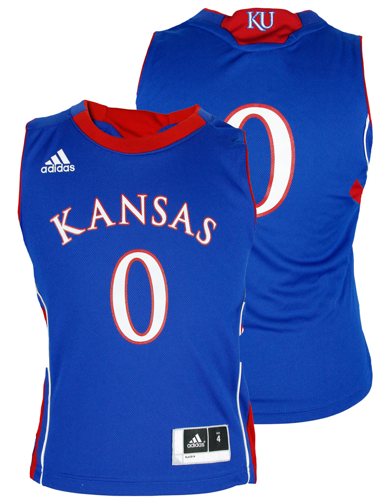 premium selection 6a737 daf05 Adidas NCAA College Toddlers Kansas Jayhawks Basketball Jersey, Blue