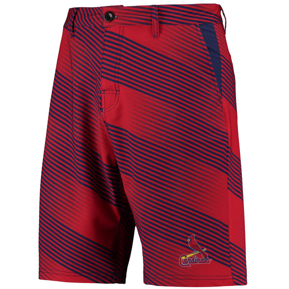 Forever Collectibles MLB Men's St. Louis Cardinals Diagonal Stripe Walking Shorts