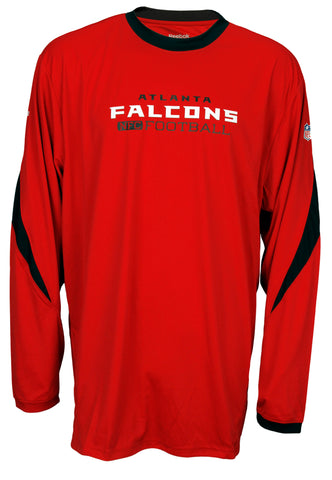 d38823d59 Reebok Mens NFL Football Atlanta Falcons Long Sleeve Performance Shirt