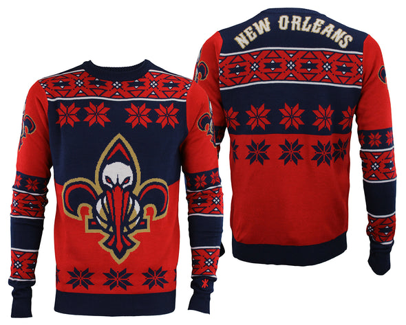 Forever Collectibles NBA Men's New Orleans Pelicans Big Logo Ugly Sweater