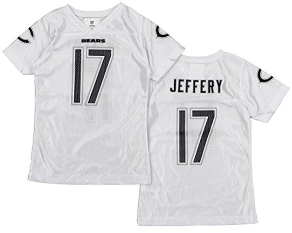 OuterStuff NFL Youth Girls Chicago Bears Alshon Jeffery #17 Dazzle Jersey