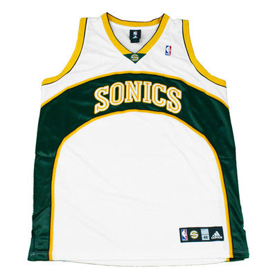 SEATTLE SONICS Blank Authentic NBA Jersey by Adidas  d3f8e1f88