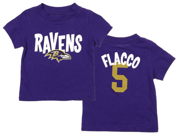 NFL Infant Baltimore Ravens Joe Flacco #5 Whirlwind Player Tee