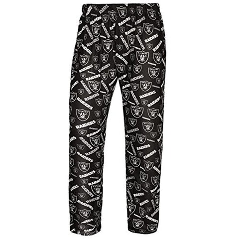 Forever Collectibles NFL Men's Oakland Raiders Repeat Print Logo Comfy Pants