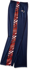 Zubaz NFL Men's New England Patriots Zebra Accent NFL Stadium Pants