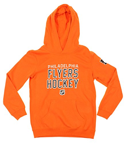 Reebok NHL Youth Philadelphia Flyers Stitch Em Up Fleece Hoodie, Orange