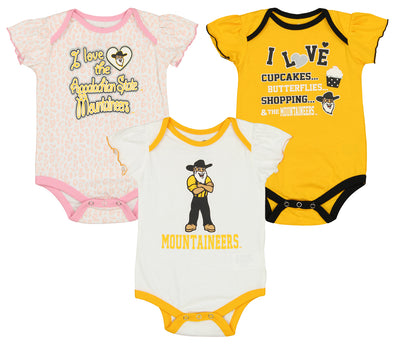 Outerstuff NCAA Infant Girls Murray State Racers Three Piece Creeper Set