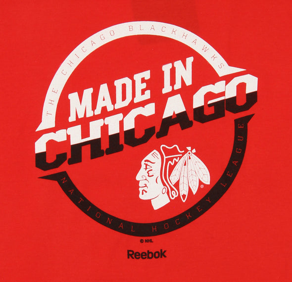 Reebok NHL Youth Chicago Blackhawks Short Sleeve Circumvent Tee, Red