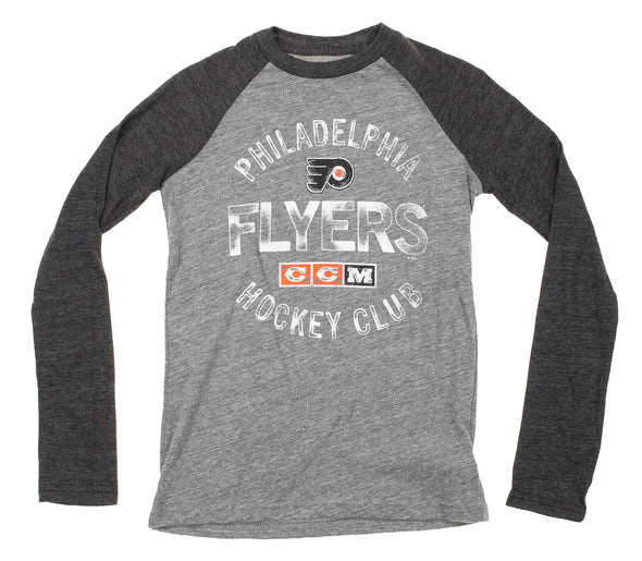 CCM NHL Youth Philadelphia Flyers Vintage Graphics Fanatic Raglan Tee