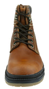NFL Men's Denver Broncos Rounded Steel Toe Lace up Leather Work Boots - Brown