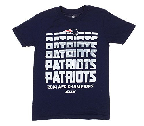 New England Patriots NFL Big Boys Youth 2014 AFC Champions T-Shirt, Navy