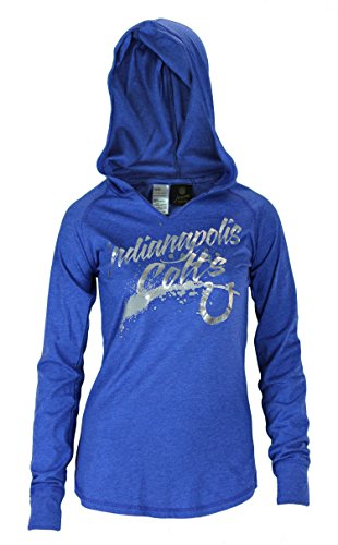 NFL Juniors Indianapolis Colts Fabulous Light Pullover Shirt Hoodie, Blue