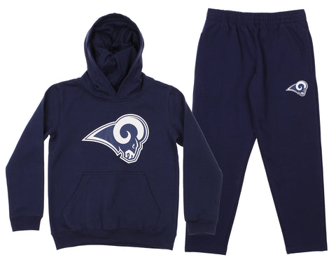 Outerstuff NFL Youth Los Angeles Rams Team Fleece Hoodie and Pant Set